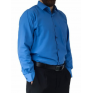 DUŻA koszula męska bawełniana niebieska duże rozmiary