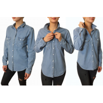 Koszula damska jeans oversize WYPRZEDAŻ