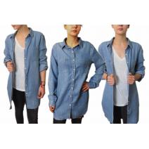 Koszula damska jeansowa długa oversize