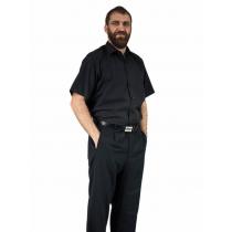 Elegancka czarna koszula męska krótki rękaw duże rozmiary