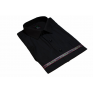 Czarna koszula męska krótki rękaw duże rozmiary