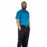 Turkusowa koszula męska elegancka krótki rękaw duże rozmiary