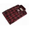 Męska koszula flanelowa w czerwono-czarną kratę