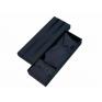 Komplet krawat poszetka, spinki + pudełko kolor grafitowy