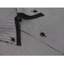 Koszula męska z podwójnym nakładanym kołnierzykiem szara w jasne paski