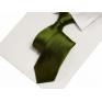 Krawat klasyczny oliwkowa zieleń