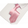 Krawat klasyczny pudrowy róż
