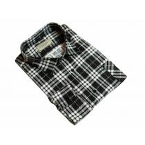 Męska koszula flanelowa czarno-biała kratka