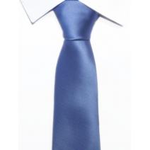 Krawat klasyczny szaroniebieski