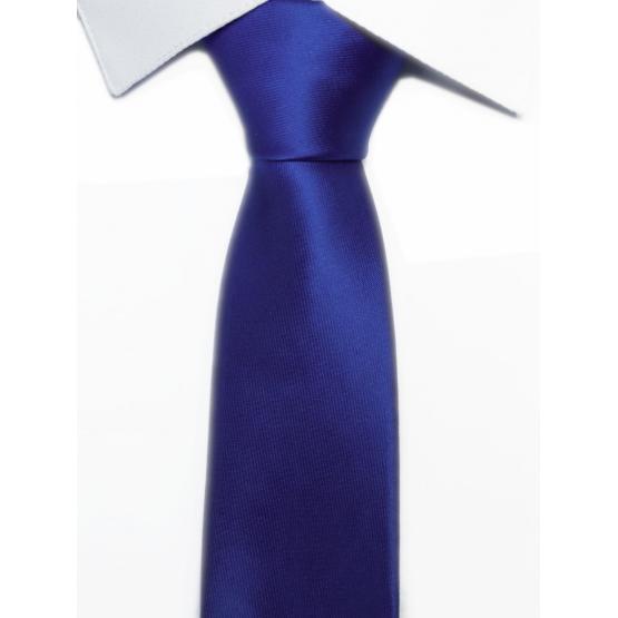 Krawat klasyczny chabrowy