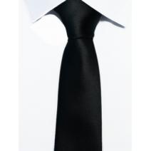 Krawat klasyczny kolor czarny