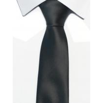 Krawat klasyczny grafitowy