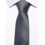 Krawat klasyczny popielaty