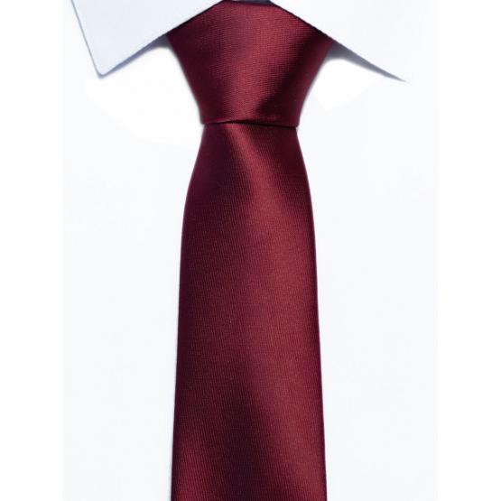 Krawat klasyczny bordowy