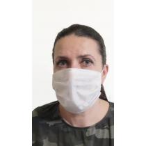 Wielorazowa maseczka ochronna na twarz z flizeliny z atestem epidemia covid-19 trójwarstwowa