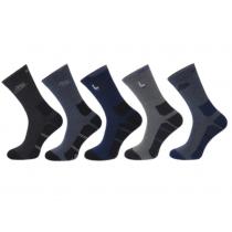 Skarpety sportowe ciemna pięta i stopa bawełniane polskie mix 5 par