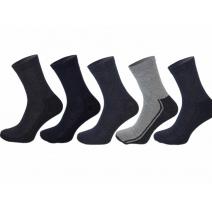 Skarpety sportowe bawełniane polskie z ciemną stopą mix kolorów 5 par