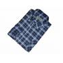 Męska koszula flanelowa granatowa w niebiesko-białą kratę