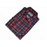 Męska koszula flanelowa czerwona w granatowo-białą kratkę