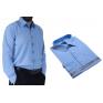 DUŻA koszula męska niebieska indygo BAWEŁNA duże rozmiary Lanvino