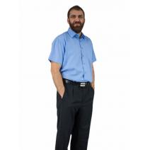 Elegancka duża koszula męska niebieska indygo