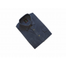 Koszula męska sztruksowa niebieska jeans gładka