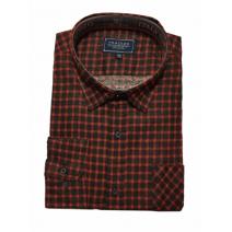 Męska koszula flanelowa czerwono-czarna małe i duże rozmiary