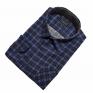 Męska koszula flanelowa chabrowo-czarna mały i duży rozmiar