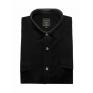 Koszula męska sztruksowa czarna gładka