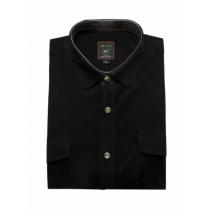 Koszula męska sztruksowa czarna gladka
