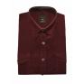 Koszula męska sztruksowa bordowa
