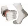 Białe skarpety frotte bawełniane polskie ciemna stopa dwukolorowe paczka 5 par