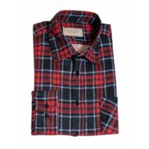 Męska koszula flanelowa w czerwono-niebieską kratę