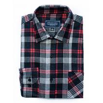 Koszula flanelowa w czarno-biało-czerwoną kratę