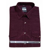 Koszula męska sztruksowa bordo