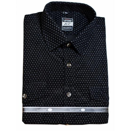 Koszula męska sztruksowa czarna