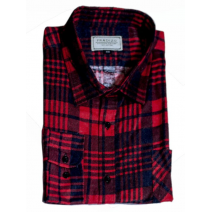 Męska koszula flanelowa czerwono-granatowa krata