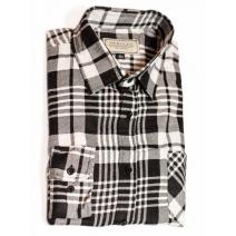 Męska koszula flanelowa w biało-czarną kratę