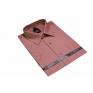 Elegancka koszula męska kolor blady róż z krótkim rękawem