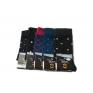 Skarpetki garniturowe eleganckie biznesowe polskie bawełna 5 par kolor mix