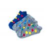 Skarpetki stopki kolorowe w kółka kropki groszki wesołe POLSKIE 5 par