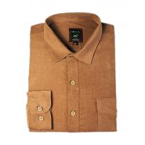 Koszula męska sztruksowa miodowa piaskowa gładka