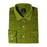 Koszula męska sztruksowa soczysta zieleń gładka