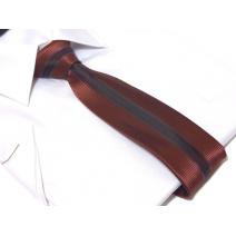 Waski modny krawat czerowno czarny błyszczący mieniący