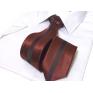 Waski modny krawat czerowny-czarny błyszczący mieniący się. Szerokość 7 cm.